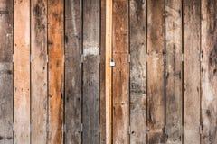 drewniany drzwi Fotografia Royalty Free