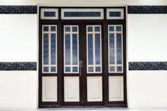Drewniany drzwi Obrazy Royalty Free