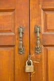Drewniany drzwi. Zdjęcie Stock