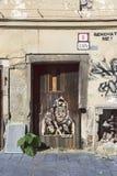 drewniany drzwi bratislava Sistani Zdjęcie Royalty Free
