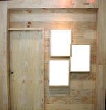 Drewniany drzwi i ramowy obrazek Obrazy Royalty Free