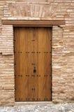 Drewniany drzwi na zewnątrz Alhambra Obraz Royalty Free