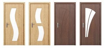 Drewniany drzwi odizolowywający na bielu Zdjęcie Royalty Free