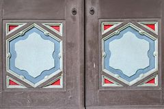 Drewniany drzwi Rzeźbi Obrazy Royalty Free