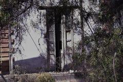 Drewniany drzwi, stary dom obraz royalty free