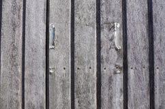 drewniany drzwi, szczegół Fotografia Stock