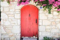 Drewniany drzwi w Starym Datca, Turcja Zdjęcie Royalty Free