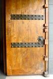 Drewniany drzwiowego kędziorka zbliżenie Obrazy Royalty Free