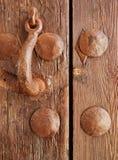 drewniany drzwiowy knocker Obraz Stock