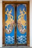 Drewniany drzwiowy obraz Obrazy Royalty Free