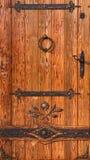 drewniany drzwiowy stary styl Zdjęcie Royalty Free