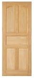 Drewniany drzwiowy stary styl na białym tle Zdjęcia Stock
