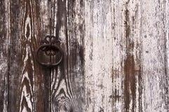 Drewniany drzwiowy tło Zdjęcia Royalty Free