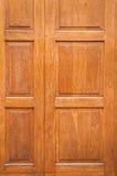 Drewniany drzwiowy tło Zdjęcia Stock