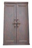Drewniany drzwiowy Tajlandzki styl odizolowywający Zdjęcie Stock