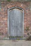 Drewniany Drzwiowy wejście Obraz Stock