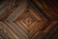 Drewniany drzwiowy zbliżenie Obraz Royalty Free