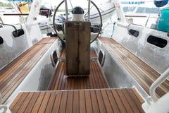 Drewniany działanie na sailign łodzi Fotografia Royalty Free