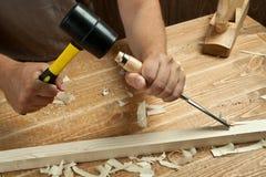 drewniany działanie Obrazy Stock