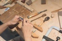 Drewniany działanie Zdjęcia Stock