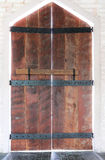 Drewniany dzwi wejściowe Zdjęcia Stock