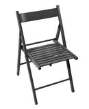 Drewniany falcowania krzesło Zdjęcia Royalty Free