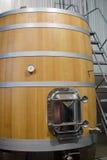 Drewniany fermenter dla wina Zdjęcie Royalty Free