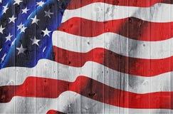 drewniany flaga amerykańska żywopłot obraz stock