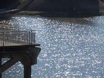 Drewniany footbridge Fotografia Royalty Free