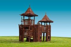 Drewniany forteca Zdjęcia Royalty Free