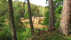 Drewniany forteca Fotografia Royalty Free