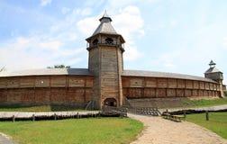 Drewniany forteca obraz stock