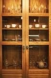 Drewniany gabinet i akcesoria obrazy royalty free