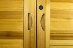 Drewniany gabinetowy drzwi Zdjęcia Stock