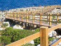 Drewniany gangway dla morza Obrazy Stock