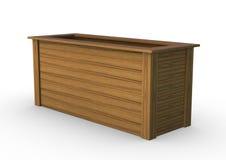 Drewniany garnek na bielu Obraz Stock