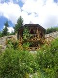 Drewniany gazebo fotografia royalty free