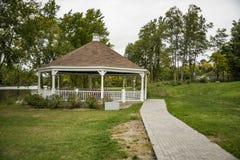 Drewniany gazebo w Bucksport, Maine Obraz Royalty Free