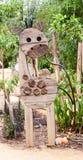 Drewniany Girrafe robić z geometrycznymi kształtami obraz royalty free