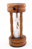 drewniany godzina jajeczny ramowy szklany zegar Obrazy Royalty Free
