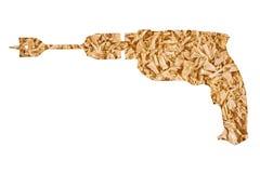 Drewniany golenie kształt wiertnicza maszyna Obrazy Stock