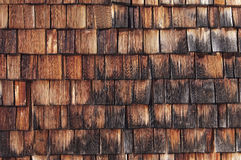 Drewniany gont Obrazy Royalty Free