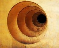 drewniany grunge portal Zdjęcia Royalty Free