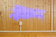 drewniany grunge ramowy wnętrze Obrazy Stock