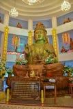 Drewniany Guan Im Buddha w Wata Huay śliwek Kanga świątyni obraz royalty free