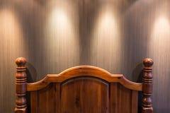 Drewniany headboard Zdjęcia Royalty Free