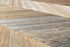 Drewniany Herringbone Boardwalk projekt Fotografia Royalty Free