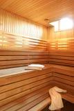 drewniany hotelowy sauna Obraz Royalty Free