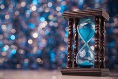 Drewniany hourglass zegar Zdjęcia Stock