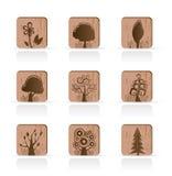 drewniany ikony inkasowy drzewo Zdjęcie Royalty Free